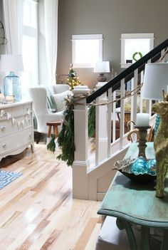 Entry Christmas Decorating - Blogger Christmas House Tours - The Inspired Room