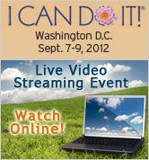"""I Can Do It!"" - Join Hay House online as authors and speakers lecture on topics from personal and global transformation, manifestation and happiness to past lives, and guidance from your angels.    Energize mind, body, and spirit from the comfort of your own home!    When you register by 9/7/12, you'll receive an On Demand Video Stream available for you to watch again at your leisure for up to 90 days! The On Demand Video will be added to your account within 2 weeks of the live streaming…"
