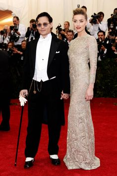 The 20 Most Stylish Couples at the 2014 Met Gala: Amber Heard and Johnny Depp
