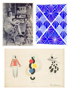 Mrs. Delaunay's work popped up on my Tumblr dash yesterday, looking as striking as ever. Did you know she was buddy-buddy with the likes of Mondrian, Arp, Vantongerloo and Kandinsky? Baller. Sources: Google