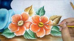 Como pintar flor do campo laranja - YouTube