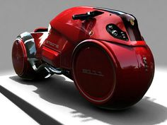 Icare Bike Concept. Conceptualized by Enzyme Design in France, the Icare motorcycle is meant to be the Aston Martin of the two-wheeled world with a six-cyclinder 1.8 Honda engine