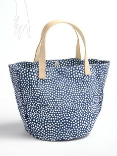 See Design - dot print tote bag H30 × W41