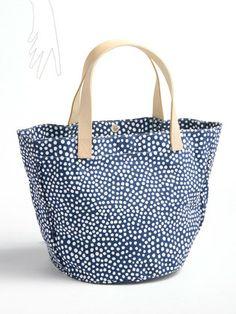 See Design - dot print tote bag H30 × W41