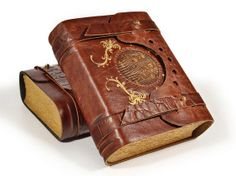 The Draconian leather journal 6.5 x 5.5 inches by aLexLibris, $80.00