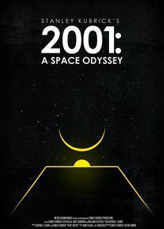 A Space Odyssey - Stanley Kubrick Minimal Movie Posters, Cinema Posters, Cool Posters, Film Posters, Stanley Kubrick, Kung Fury, Shutter Island, Martin Scorsese, Alfred Hitchcock