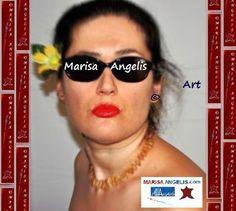 Marisa Angelis wears 'Sunshine' 2007 Necklace, Designed and Created by Marisa Angelis - Artist Designer Writer Poet Philanthropist Humanitarian Promoter   © www.marisaangelis.com