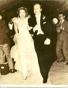 Jeanette MacDonald on her 1937 wedding day to Gene Raymond