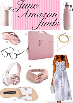 My favorite purchases during last month and more. #amazon #amazonfinds #waterbottle #headphones #sleepmask #mididress #stevemadden #bluelightglasses Affordable Swimsuits, Cheap Swimsuits, Affordable Clothes, Cheap Clothes, Cheap Outfits, Clothes Sale, Beach Bags Amazon, Best Amazon Buys, Beach Accessories