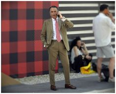 On the street Pitti Uomo Florence with Mr. Giampaolo Alliata www.maurodelsignore.com
