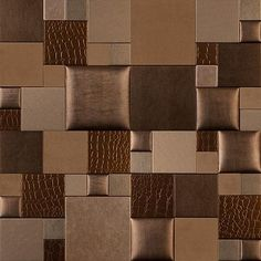 Mosaic Essentia GILDED AGE NappaTile™ Faux Leather Wall Tiles by Concertex