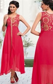 Picture of Elegant Fuchsia Color Ready Made Kurti