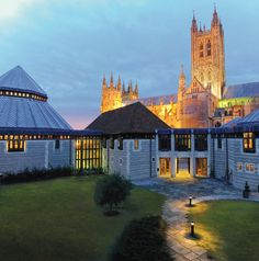 Front Cover - Canterbury Cathedral Lodge at dusk
