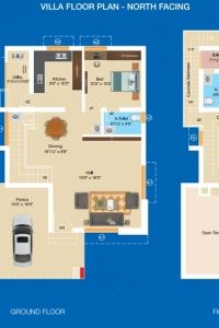 Aashritha - Villa Floor Plan (North Facing)