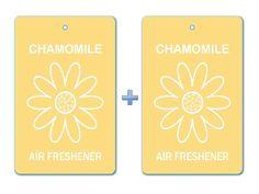 Chamomile Floral Air Freshener Paper Hanging Bar (Pack of 2)/ Car-Home-Office Natural Pocket Fragrance