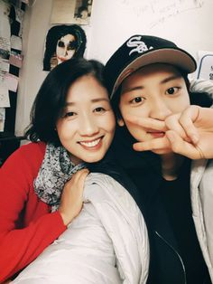 Chanyeol with his mom CUTIEEE