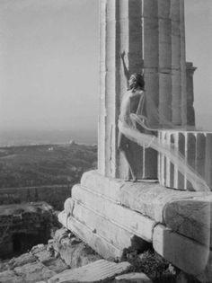 Nelly's [Elli Souyioultzoglou-Seraidari] -Nikolska, a hungarian dancer at the Parthenon, Acropolis-Athens, Greece -1929