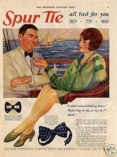 Late 20s bow ties as summer formalwear