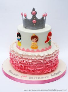 Princess Ruffle Cake - by SugarSweet @ CakesDecor.com - cake decorating website