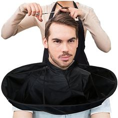 Kanzd Barber Cloak,DIY Hair Cutting Cloak Umbrella Cape Salon Barber Salon Clothes Apron For Haircut