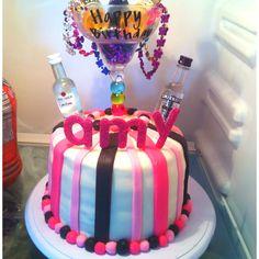21st birthday cake I made.