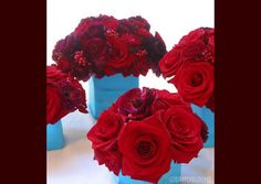Wedding, Flowers, Red, Blue, Simply blooms