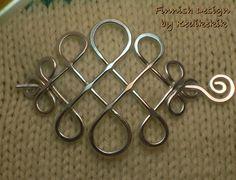 Artistic CELTIC Brooch Hair Pin or Shawl Pin made by Kedikekik, $19.00