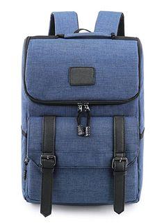 626f97e071 Weekend Shopper Lightweight Canvas Leather Travel Backpack Rucksack School Bag  laptop backpack Daypack for School Working