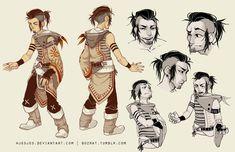 character design commission : Kodaksmile by HJeojeo on deviantART