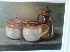oil on canvas Sugar Bowl, Bowl Set, Paintings, Oil, Canvas, Tela, Paint, Painting Art, Canvases