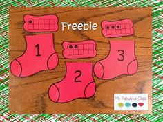 Number and tens frame match, holiday stocking, number sense 1-10 and addition +1