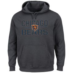 Chicago Bears Majestic Kick Return Pullover Hoodie - Charcoal