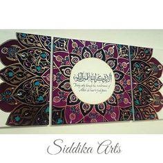 Purple arabesque islamic canvas art