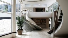 Cantilever staircase by Saota architects