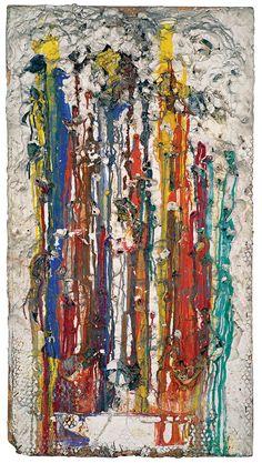 Grand Tir – Séance galerie J  Niki de Saint Phalle; 143 x 77 x 7 cm. Paris, Centre Pompidou. © 2014 Niki Charitable Art Foundation.