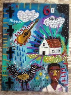 Mississippi Delta Folk Art - pinned by pin4etsy.com