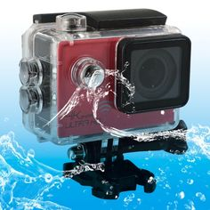 [$82.10] SJ8000 WiFi Novatek 96660 Ultra HD 4K 2.0 inch LCD Sports Camcorder with Waterproof Case, 170 Degrees Wide Angle Lens, 30m Waterproof(Red)