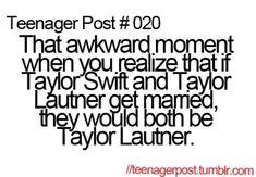 Not really awkward but....... yea