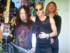 Julian Forest with Bryant Reed and the guitarist for Queensryche.