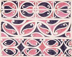 Godber, Albert Percy, 1876-1949 :[Drawings of Maori rafter patterns]. 13. 7W. MA7. From Tuhoe; 14. 9W. MA9. From Tuhoe; and, 15. 31W. [1939-1947].