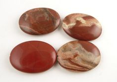 Mexican Red Jasper Beads // Large Oval Gemstone by CastoGemstones, $4.00