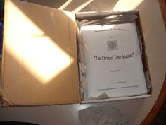 The manuscript returns from the American editor, via snail mail! Squee!