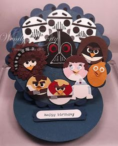 Stampin' Up! Punch Art  by Wensy Doherty at Stamping Styles: Star Wars Angry Birds