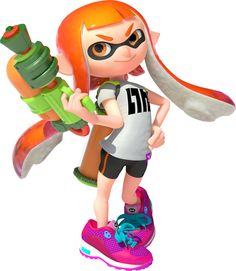 Inkling (Splatoon) - Newcomer from the Splatoon series, Male and Female palette swap; Feather class character
