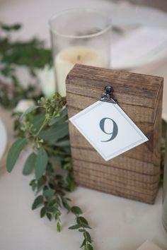 Organic industrial table numbers #cedarwoodweddings 04.21.2017 :: Stephanie+Matt | Cedarwood Weddings