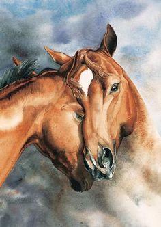 Horse hug  #Cowgirl #Art #CowgirlArt #Horse #HorseArt   http://www.islandcowgirl.com/