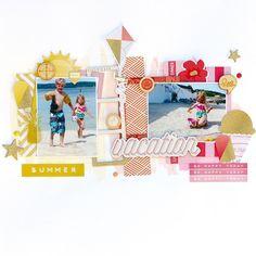 "Kimberly Hutchison on Instagram: ""Sharing this gorgeous LO created by our Guest Designer, @christingronnslett using our #june2015 #hipkits. @ellesstudio #letseat @cratepaper #poolside @fancypantsdesigns #makingwaves #summersun @shopfreckledfawn @shop.evalicious #letsgo"""