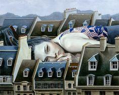 As pinturas melancólicas de Tran Nguyen ~ Pêssega d'Oro