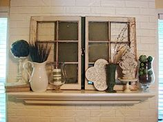 Old windows are everywhere! They make everything more beautiful! Let's see a few old windows decor ideas that I love! Little Big Nest has. Window Frame Crafts, Old Window Decor, Old Window Projects, Window Frames, Home Projects, Window Ideas, Windows Decor, Antique Windows, Vintage Windows