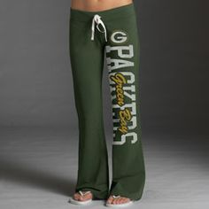 Green Bay Packers Women's Green '47 Brand Pep Rally Pants  $55.99 http://www.fansedge.com/Green-Bay-Packers-Womens-Green-47-Brand-Pep-Rally-Pants-_2028710979_PD.html?social=pinterest_pfid22-38492